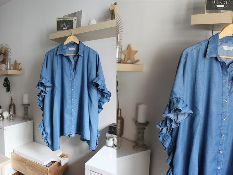 blouse volant zara