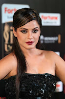 Glamorous Actress Neetu Chandra in Black dress at IIFA Utsavam Awards 2017  HD Exclusive Pics 21.JPG
