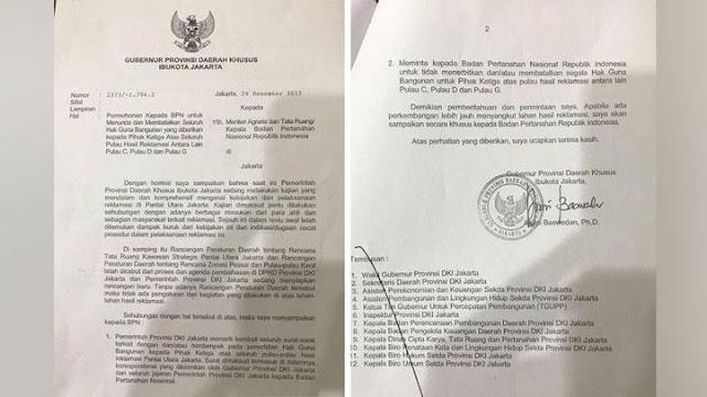 BPN Tolak Permintaan Anies Batalkan HGB Pulau Reklamasi
