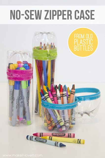 http://www.makeit-loveit.com/2015/01/no-sew-zipper-cases-from-old-soda-or-water-bottles.html