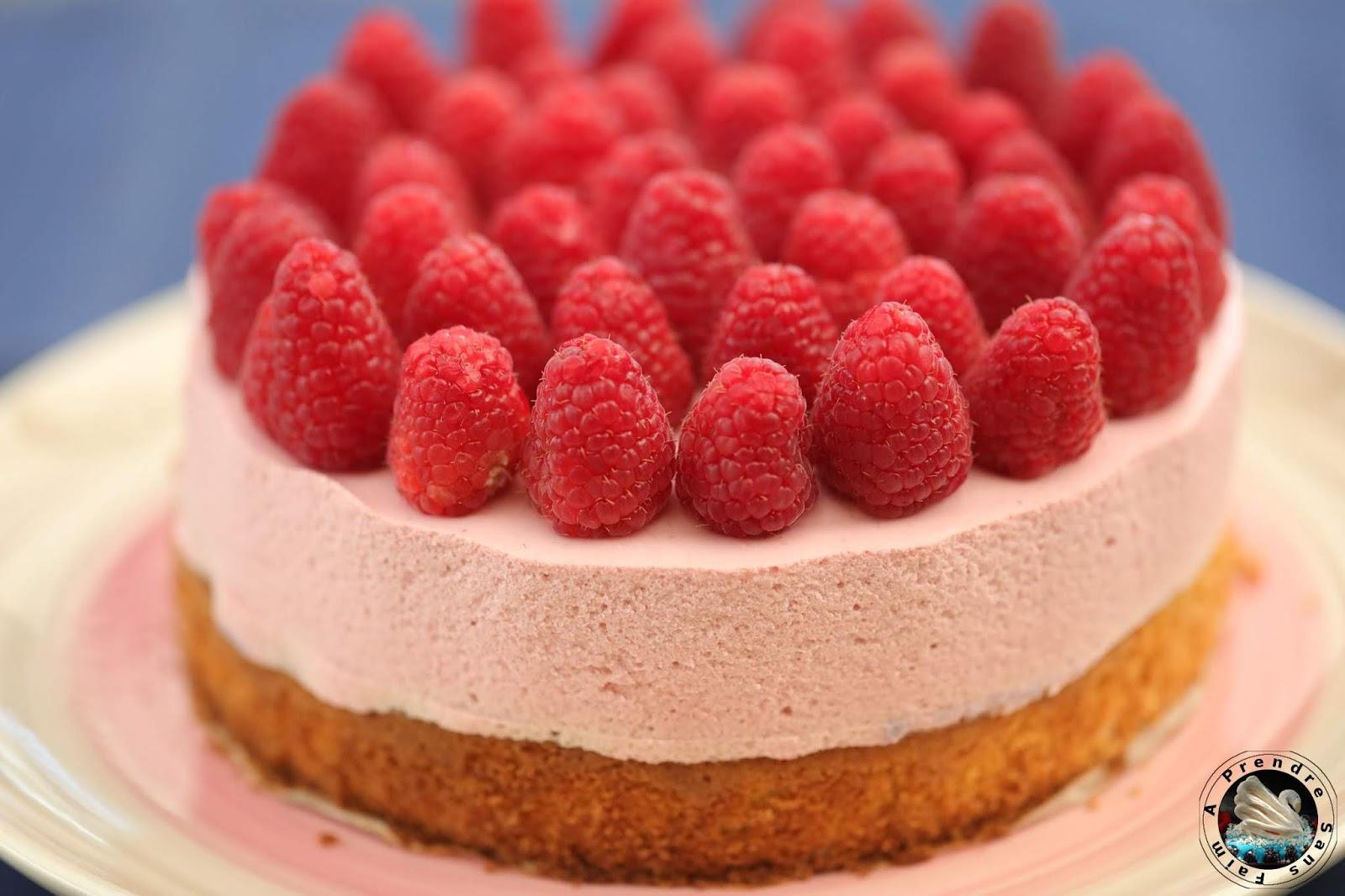 Gâteau nuage aux framboises
