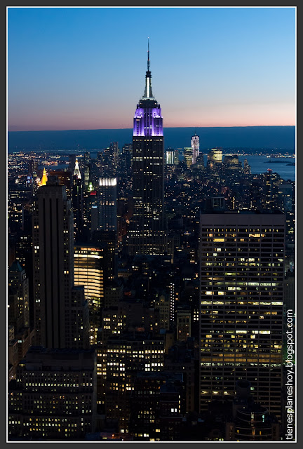 Empire State desde el Top of the Rock (Rockefeller)