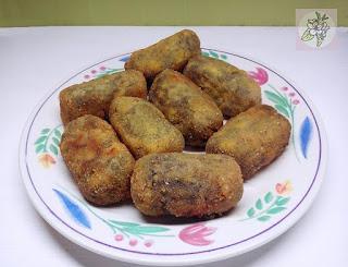Croquetas Veganas de Espinacas y Tofu.