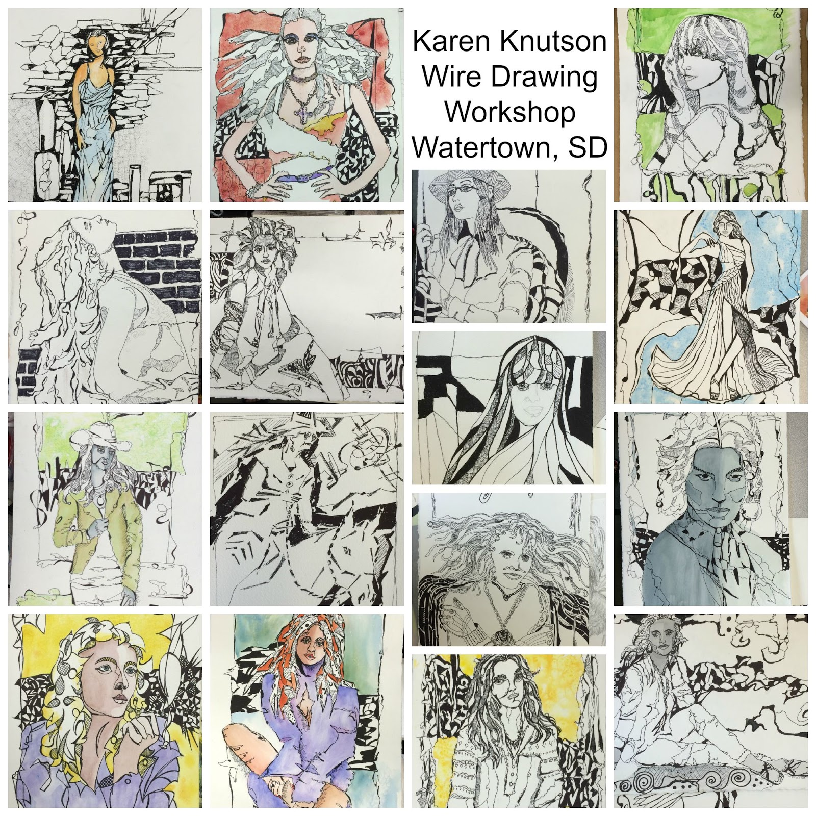 Wild About Painting By Karen Knutson Dont Talk To Me Before 800 How Wire A Workshop My Next Drawing Is At The White Bear Lakes Center For Arts On Nov 3 5 Sign Up Now If Interested In Learning This Process