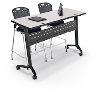 Height Adjustable Training Room Table