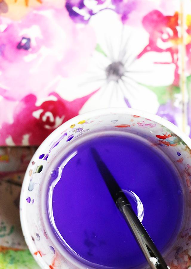 a peek inside my process: loose watercolor blooms
