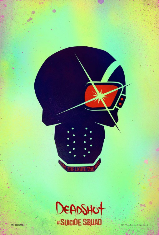 Suicide Squad Deadshot movie teaser poster