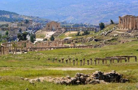 Ruinas en Gerasa, Jordania