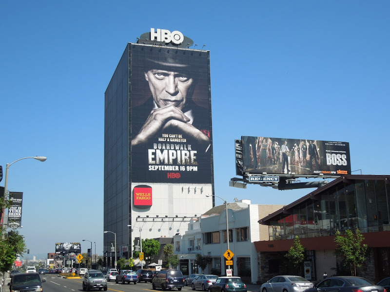Boardwalk Empire season 3 billboard Sunset Strip