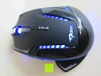 Beleuchtung: LIHAO E-3lue® MAZER-R EMS152 Gaming Maus kabellos 2.4GHZ 2500DPI, USB, LED