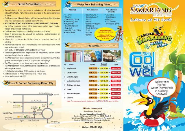 Harga Tiket Borneo Samariang Water Park Terkini 2018
