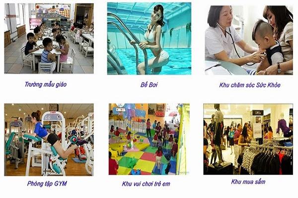 Bể bơi, khu mua sắm, phòng tập Gym tiện lợi