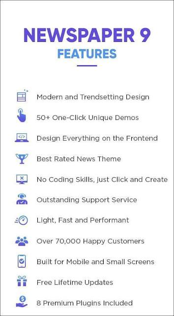 Free Download Full Newspaper 9 Wordpress Theme