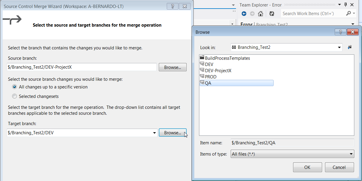 """infostructure : HOW-TO: Apply a """"baseless merge"""" in Team"""