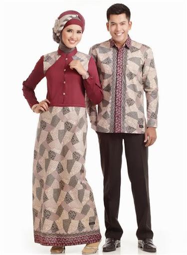 Model Baju Muslim Batik Sarimbit Keluarga Modern Terbaru Trend