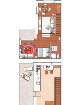 decoração de espaços pequenos, decoração de casa pequena, decoração rústica
