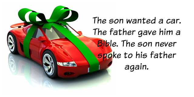 A Car or a Bible? a story of irony and spiritual truth