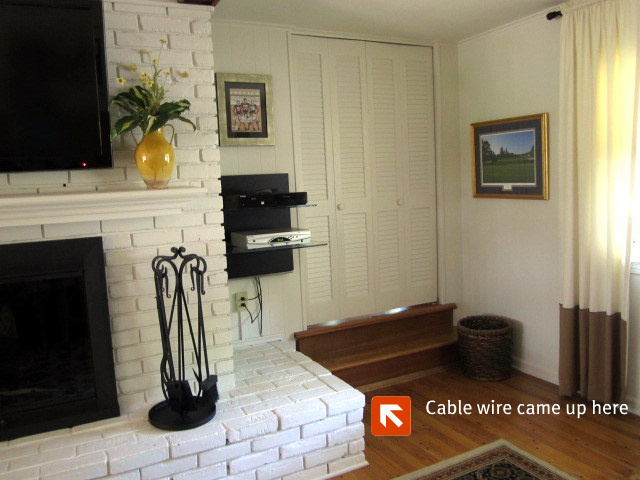 how to mount a tv on a brick fireplace updated rh onsuttonplace com installing tv on brick fireplace how to hang a tv on a brick fireplace wall