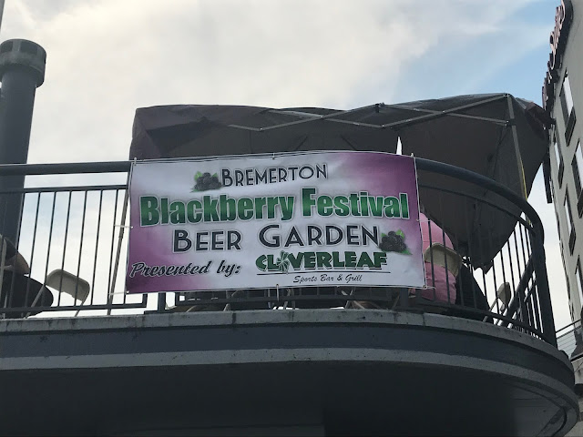 banner of the blackberry pie festival in Bremerton WA