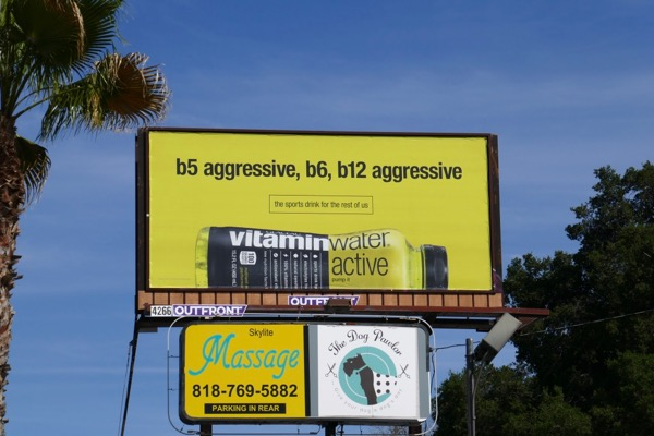 B5 aggressive Vitaminwater Active billboard