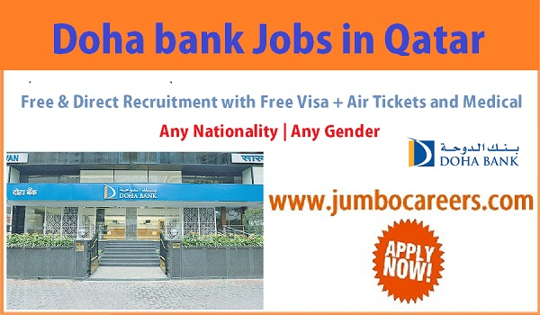 Recent Bank jobs in Qatar, Salary details of latest bank jobs Qatar,