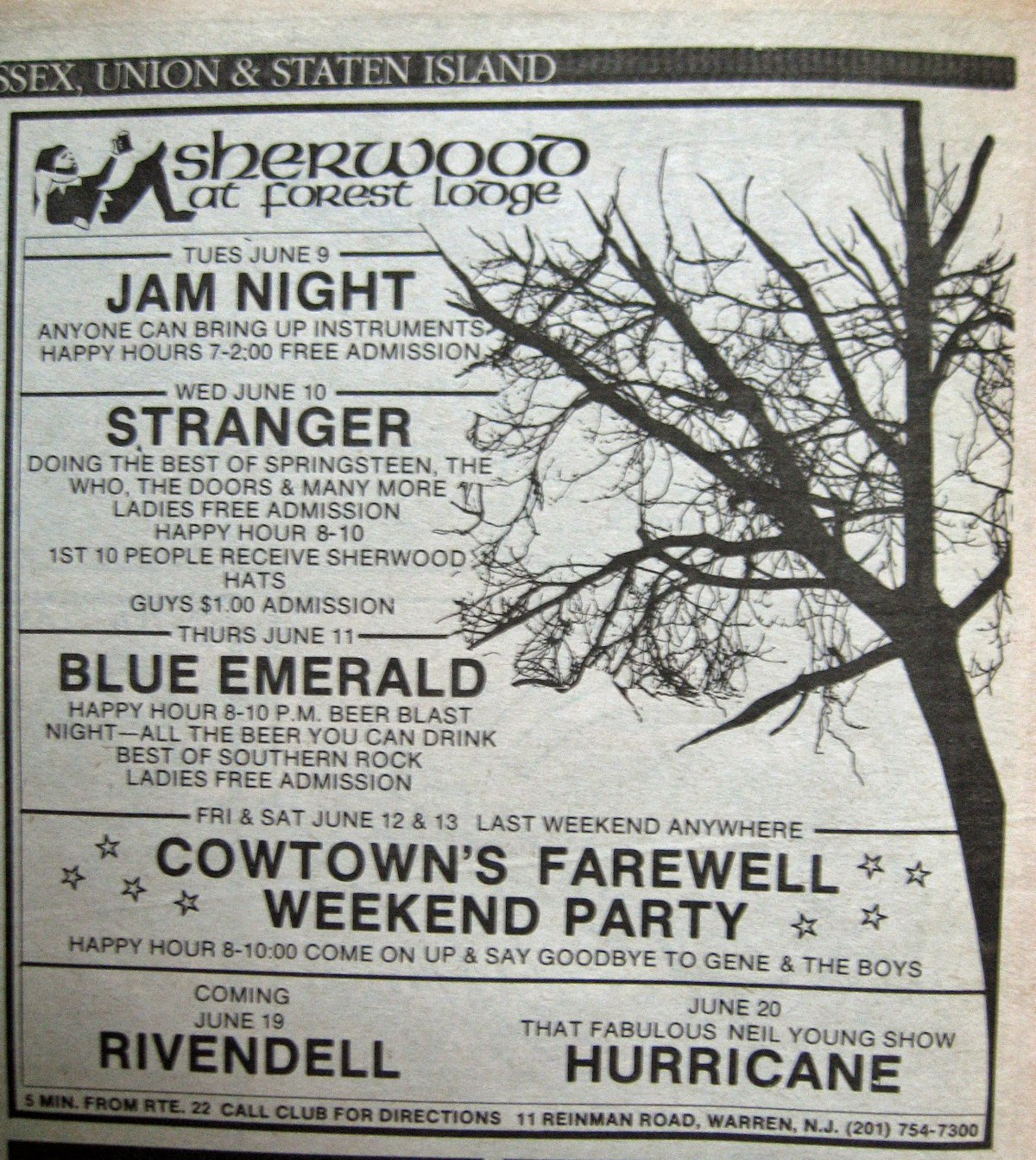 Sherwood At Forest Lodge band line up 1981