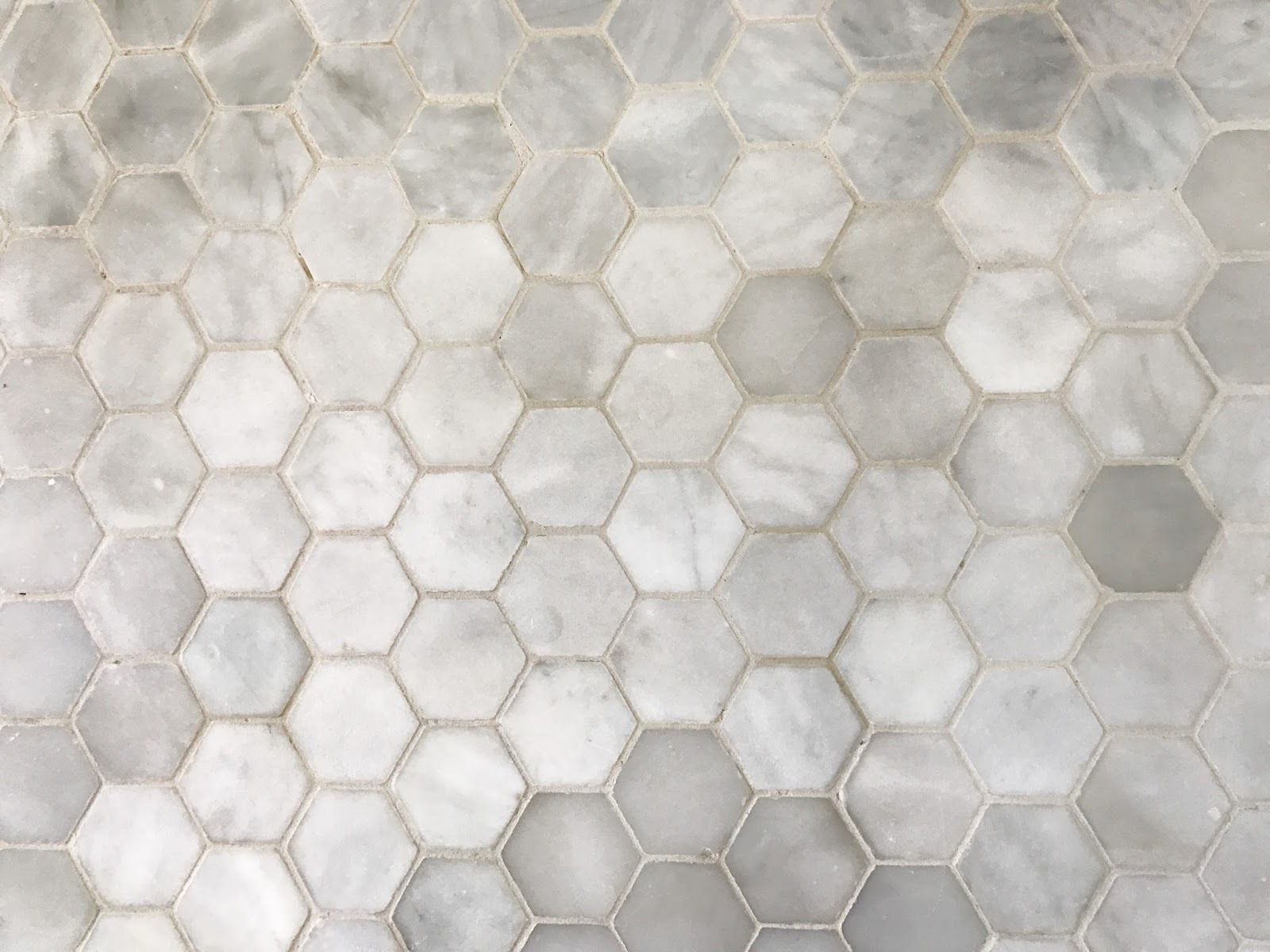 Small-hexagon-marble-bathroom-tiles