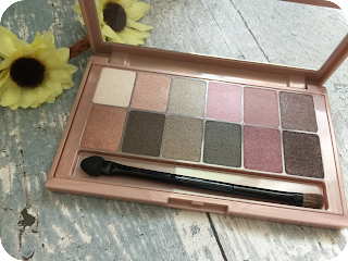 Maybelline the blushed nudes palette shades