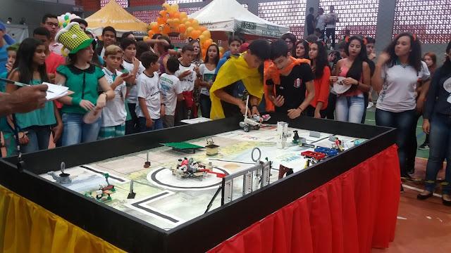 Torneio de robótica reúne 150 estudantes em competição em Cacoal
