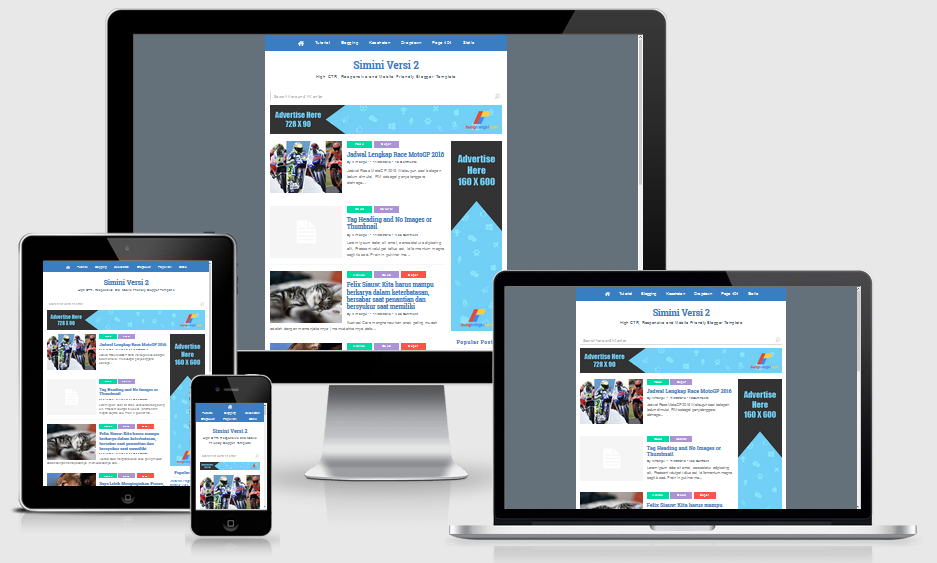 SiMini Responsive Blogger Template High CTR