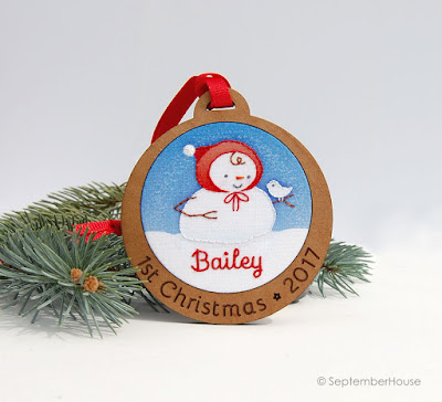 Baby's First Christmas Ornament Personalized Snowman Ornament by SeptemberHouse