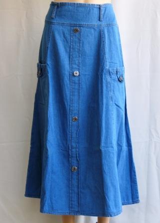 rok jeans model payung tanah abang