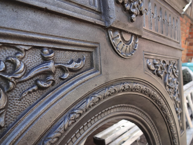 Cast Iron Fireplace with Detail