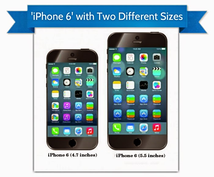 4 7 inch iphone rumor iphone 6 with two different sizes 4 7 inch and 10011