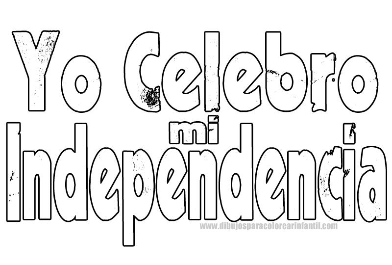Campanas De Independencia Para Colorear