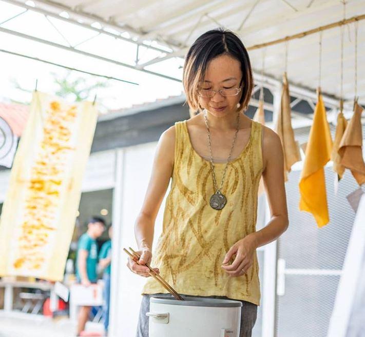 Agy Textile Artist Natural Dye Installation