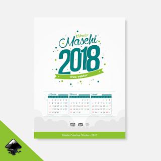 template kalender 2018 free