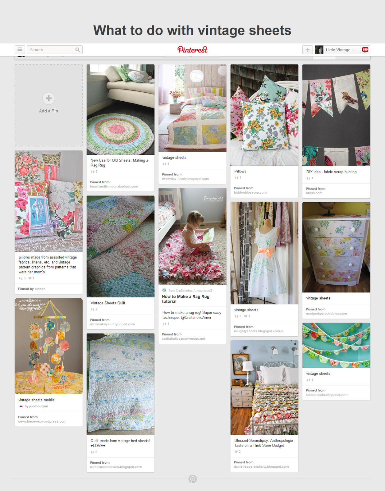 http://www.pinterest.com/vintagecottage/what-to-do-with-vintage-sheets/