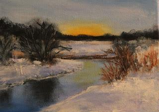 keiu kuresaar õlimaal maastik talvemaal jõulud oil painting christmas winter