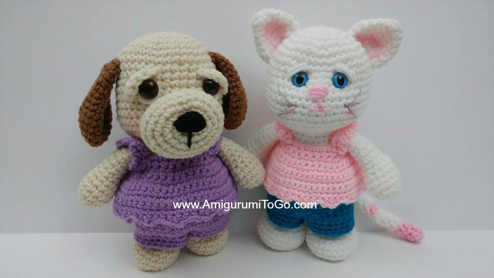Lion Amigurumi To Go : Shirt and pants for little bigfoot animals amigurumi to go