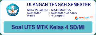 Contoh Soal UTS 2 Matematika Kelas 4 SD/MI (genap) Terbaru