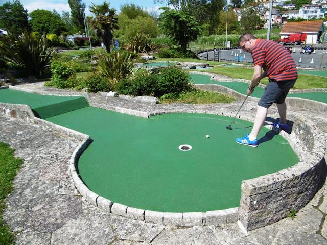 Mini Crazy Golf course in Goodrington Sands Paignton
