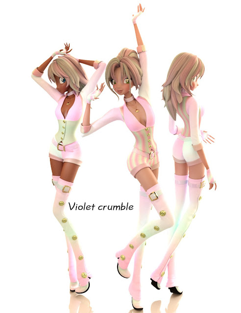 Iray Candy Textures for SteamStar Outfit