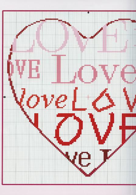 Dia dos Namorados Especial almofada love Em Ponto Cruz Com Gráficos3