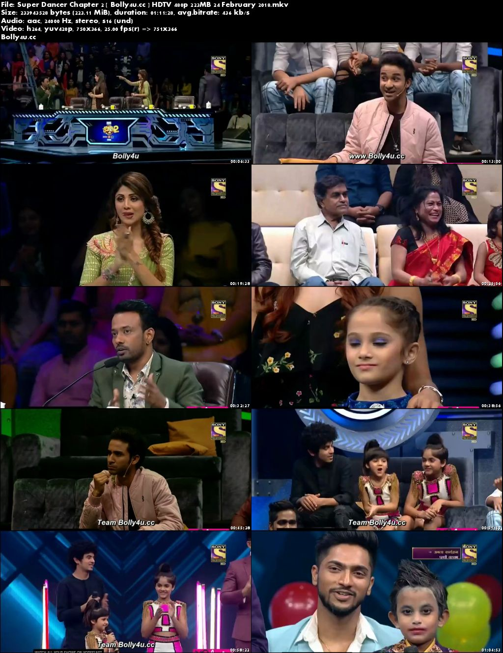 Super Dancer Chapter 2 HDTV 480p 200Mb 24 February 2018 Download