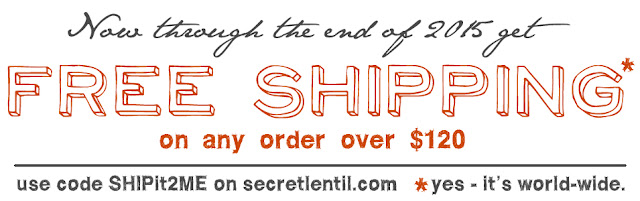 free shipping at secret lentil secretlentil.com