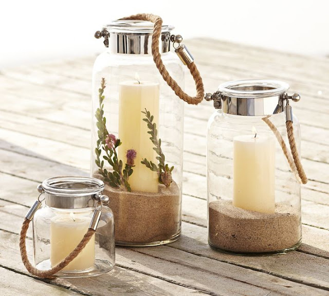 Copy Cat Chic Two S Company Lanterns With Rope Handle