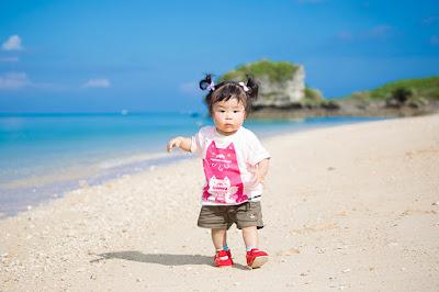 子供写真 沖縄 海