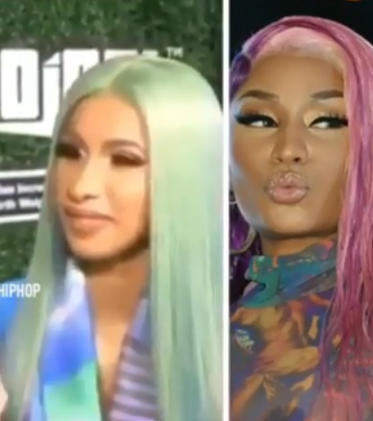 Cardi B reacts to if she's collab with Nicki Minaj mending their relationship