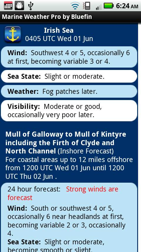 Marine Weather Smartphone App Brings Latest Forecasts and Tidal Data